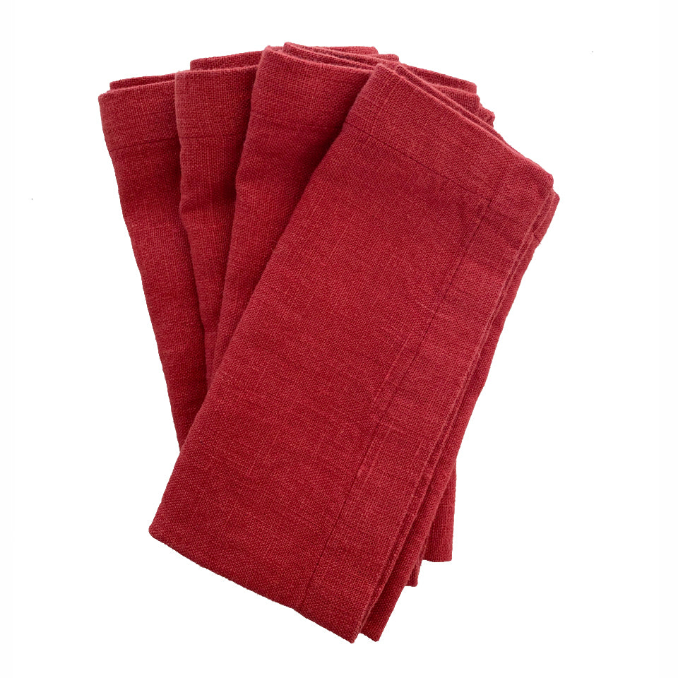 Linen Napkins - Set/2 - Red Pear