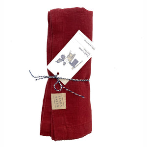 Linen Table Runner - Red Pear
