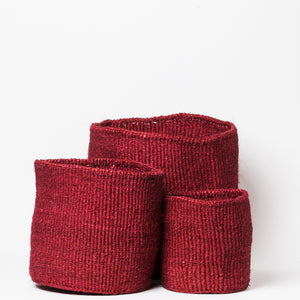 Sisal Basket Medium - Red