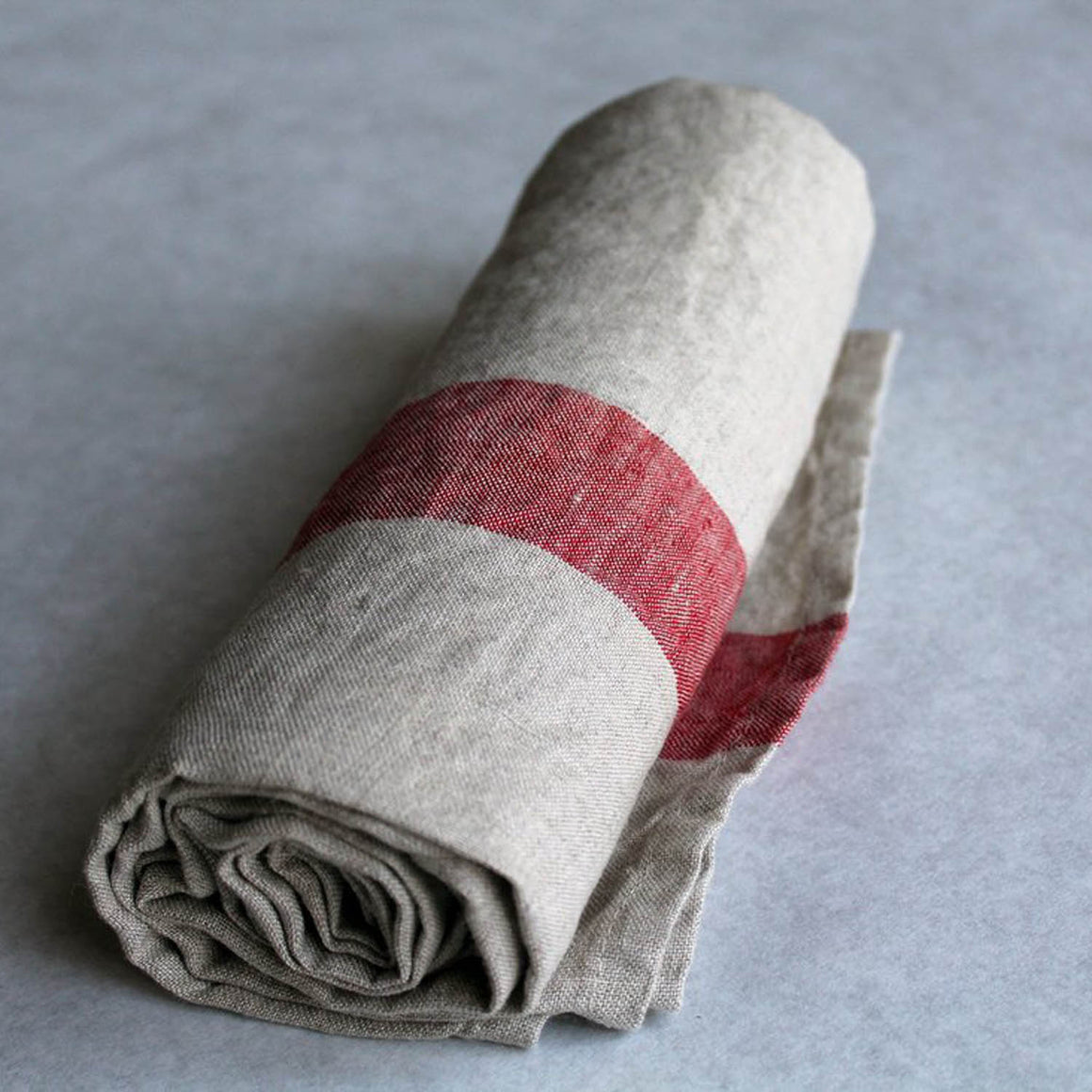 Travelweight Linen Bath Towel - Red