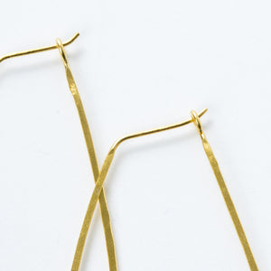 Medium Gold Vermeil Oval Hoops - KESTREL