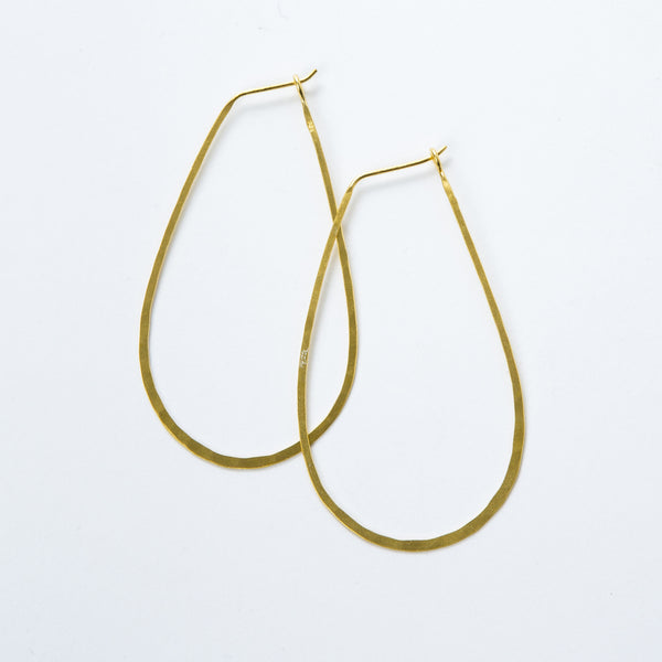 Large Gold Vermeil Oval Hoops