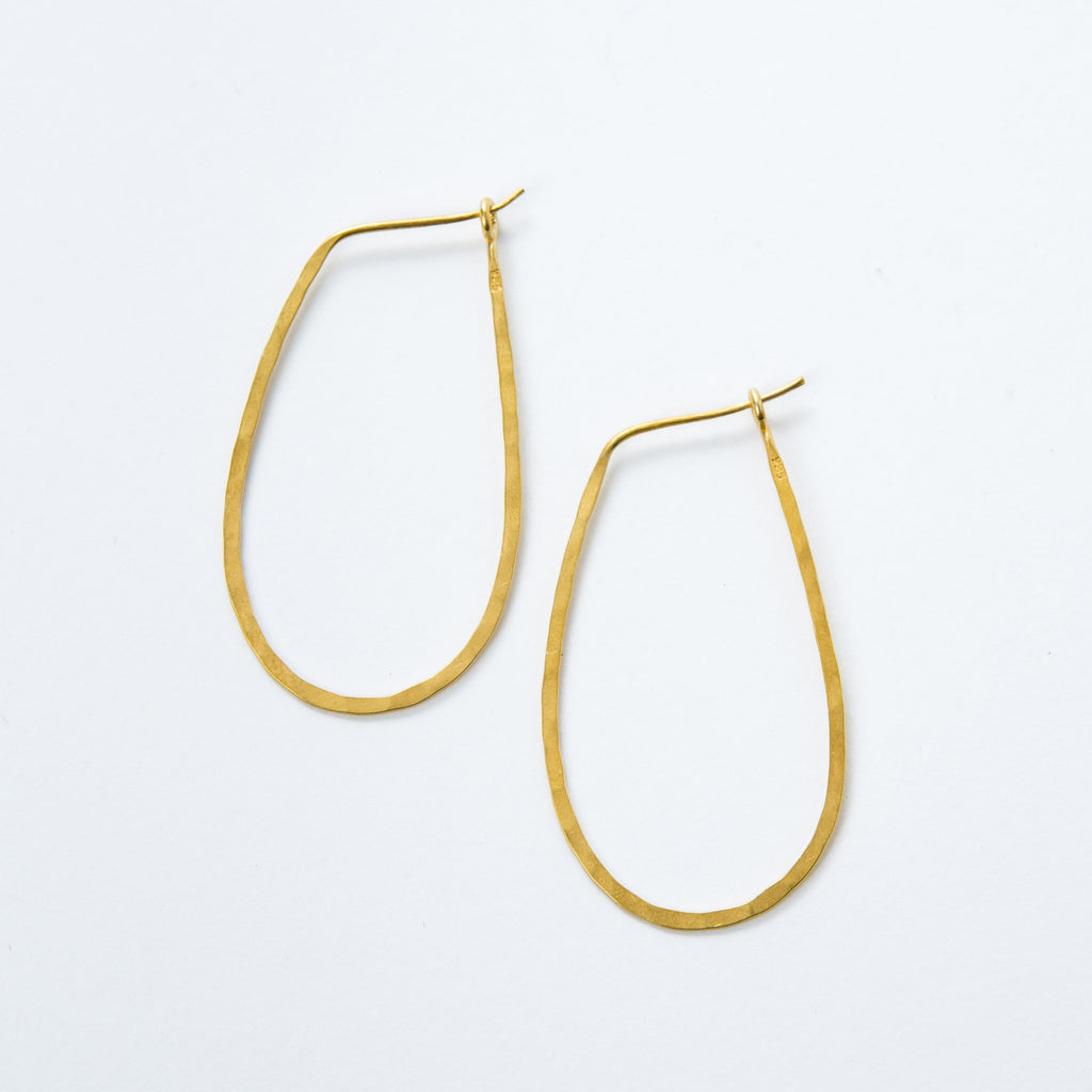 Medium Gold Vermeil Oval Hoops