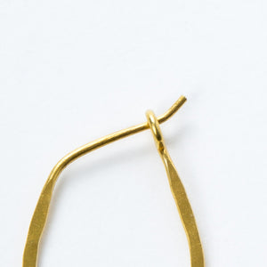 Small Gold Vermeil Oval Hoops