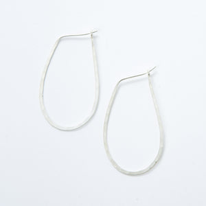 Medium Sterling Oval Hoops