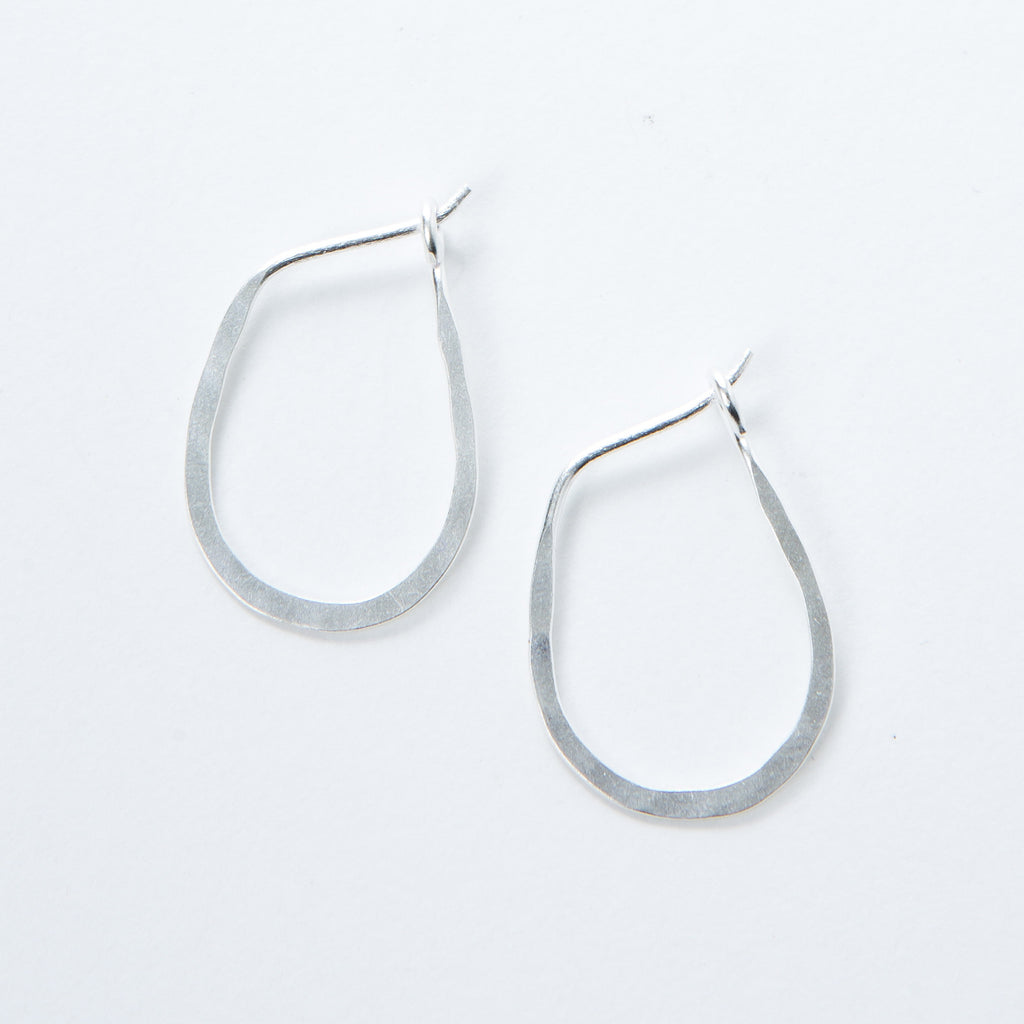 Small Sterling Oval Hoops