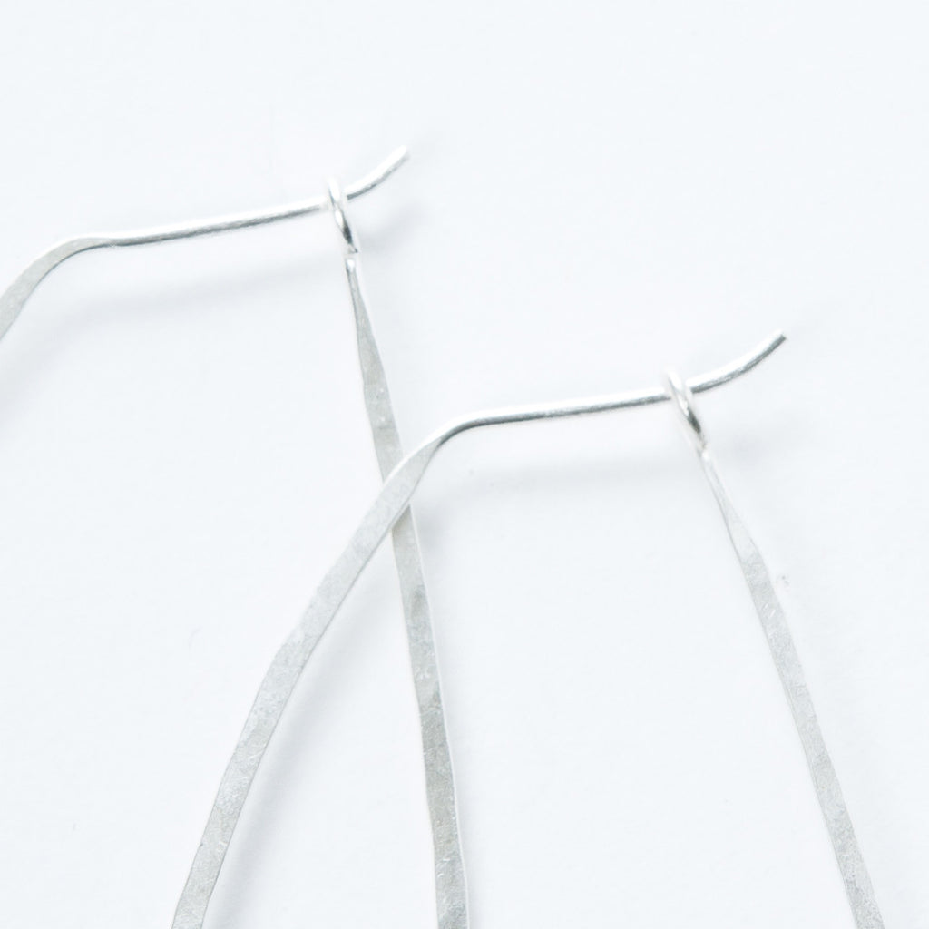 Large Sterling Oval Hoops