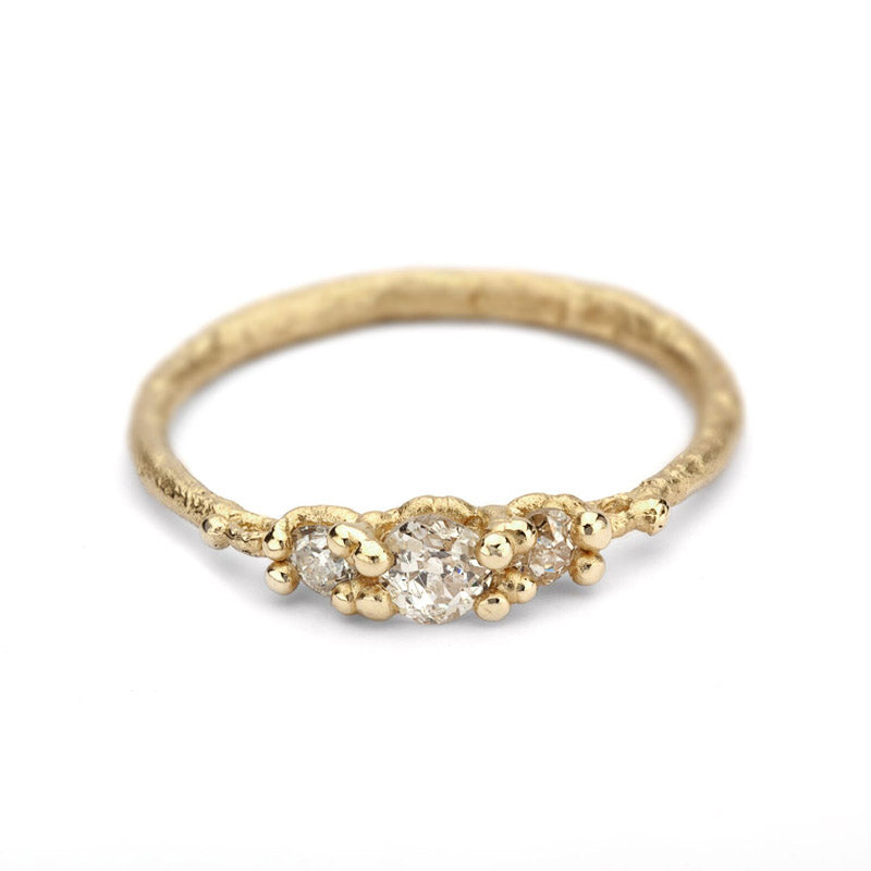Antique Triple Diamond Ring - KESTREL