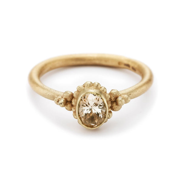 Champagne Solitaire Ring - KESTREL