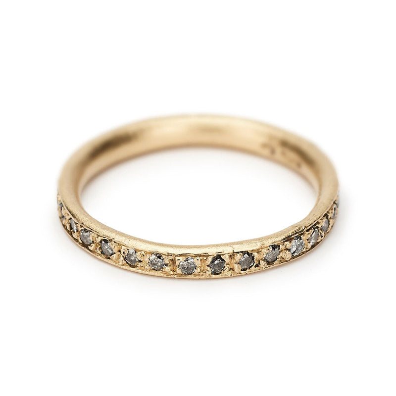 Salt and Pepper Eternity Band