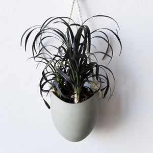 Sage Green Hanging Planter w/ Rope