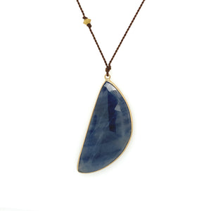 ** Sapphire Wing Bezel Necklace **