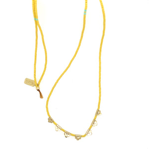 Brass Lucky Loop - 3 Dot Necklace - Pineapple