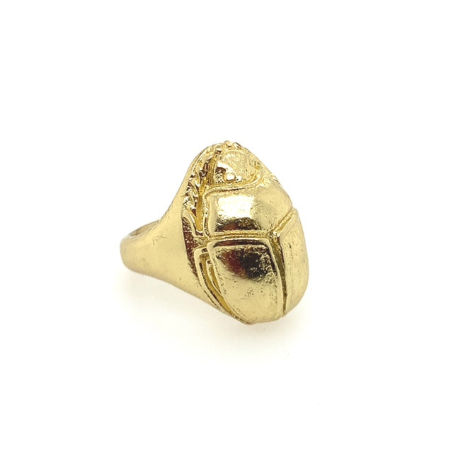 Brass Scarab Ring