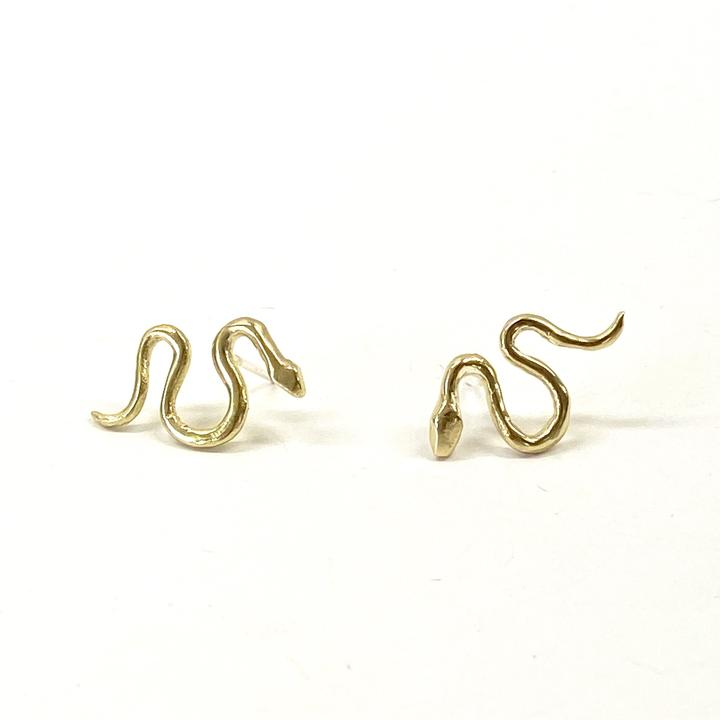 Brass Serpent Studs - KESTREL