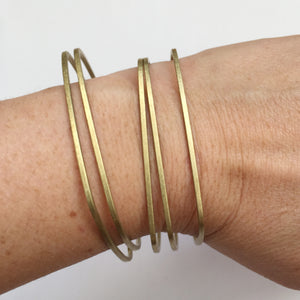Skinny Brass Bangle Set - KESTREL