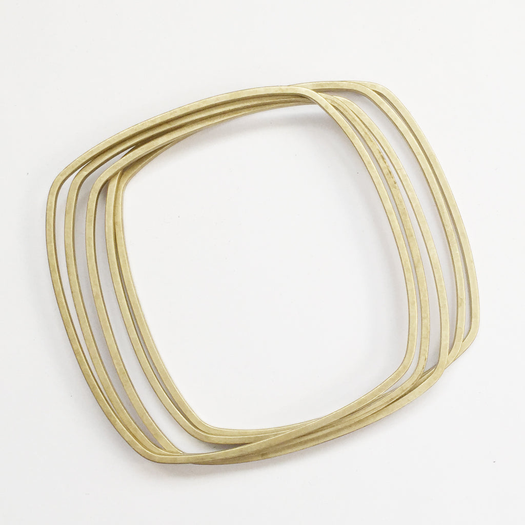 Skinny Brass Bangle Set