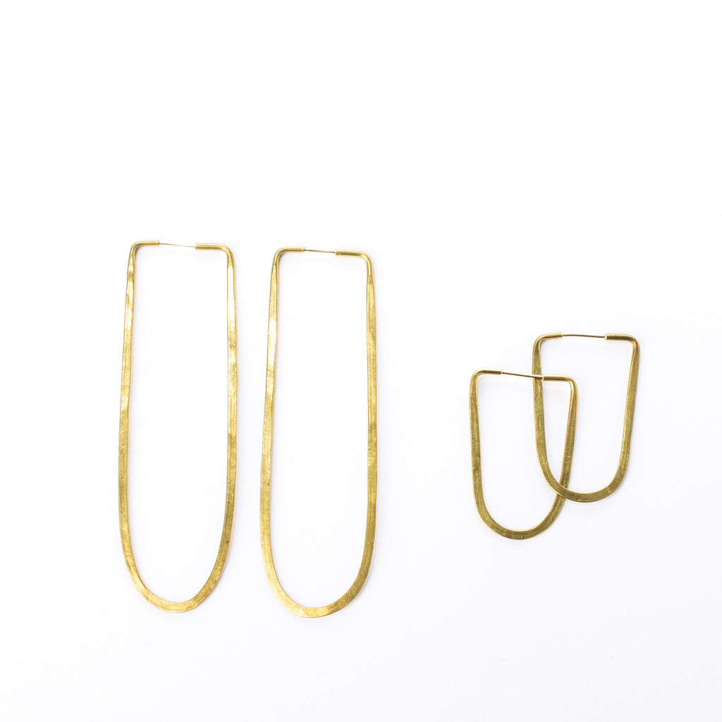 Brass Oval Hoops