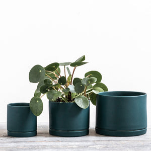 Mariner Blue Round Planter