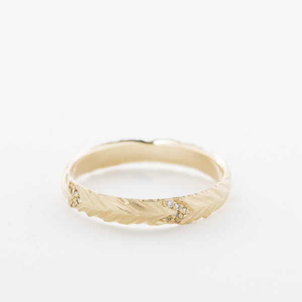 Pave Feather Band