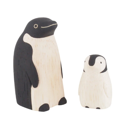Tiny Wooden Penguin Family - KESTREL
