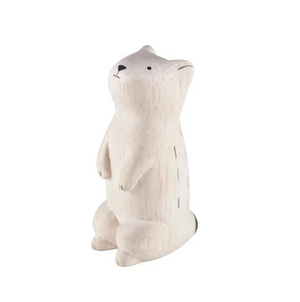 Tiny Wooden Prairie Dog - KESTREL