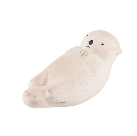 Tiny Wooden Sea Otter - KESTREL