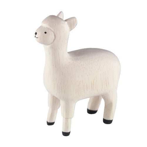 Tiny Wooden Alpaca
