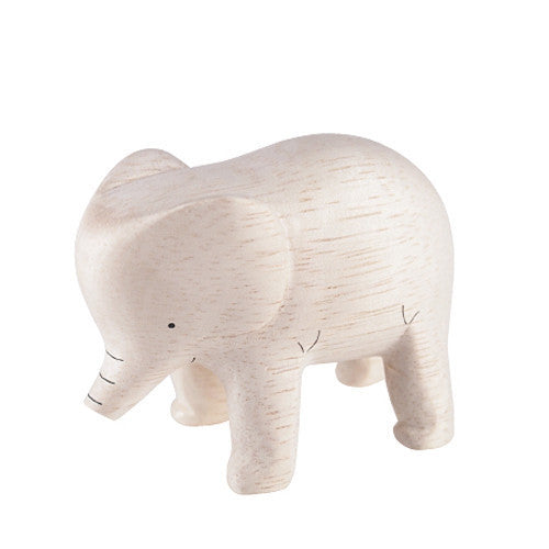 Tiny Wooden Elephant