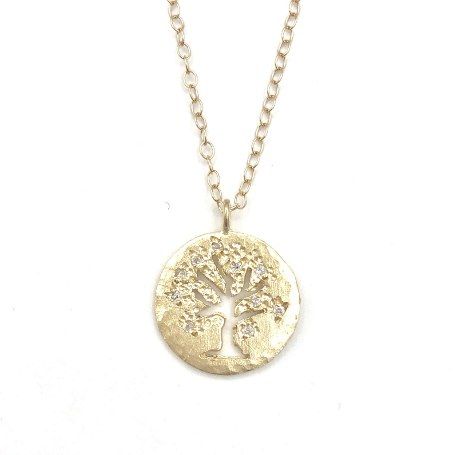 14k Tree Of Life Necklace