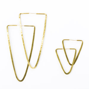 Brass Triangle Hoops - KESTREL
