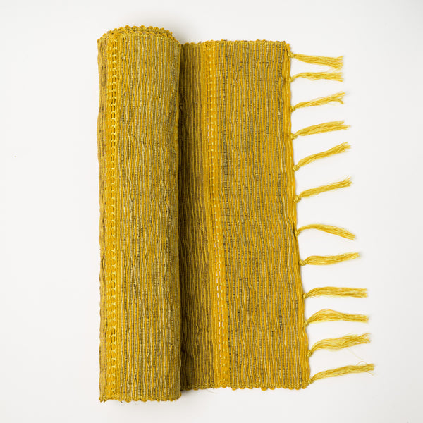 Vetiver Table Runner Citrus Yellow