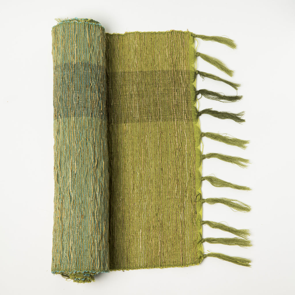 Vetiver Table Runner Olive Green