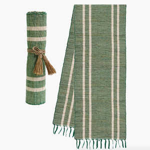 Vetiver Table Runner (Emerald)