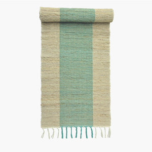Vetiver Table Runner (Turquoise Stripe)