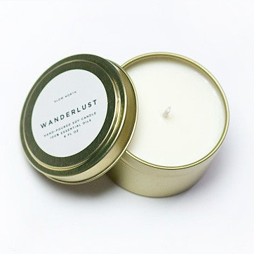Wanderlust Candle Tin