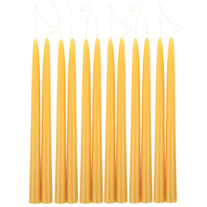 "12"" Taper Candles - Saffron - KESTREL"