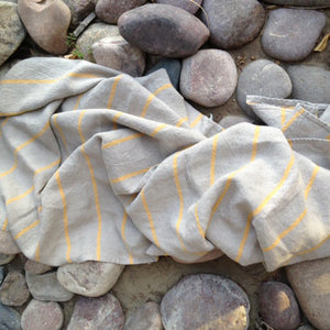 Striped Linen Beach Towel - KESTREL