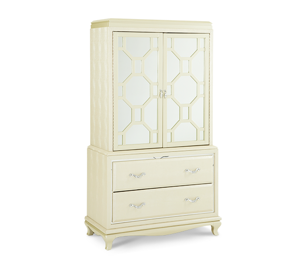 After Eight Pearl Two-Door Chest by Michael Amini  sc 1 st  Gallery Furniture & Contemporary and Modern Chest of Drawers Orlando | Buy ... pezcame.com