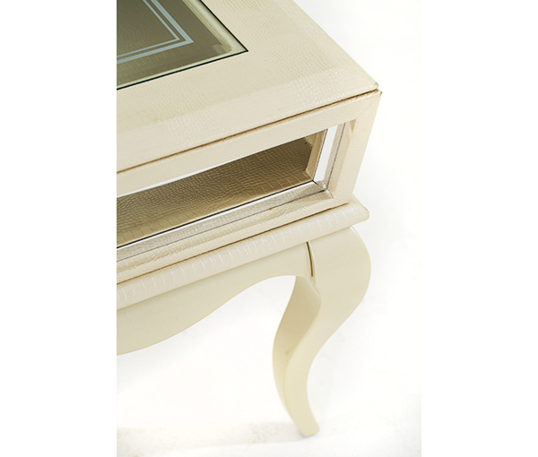 After Eight Pearl End Table by Michael Amini