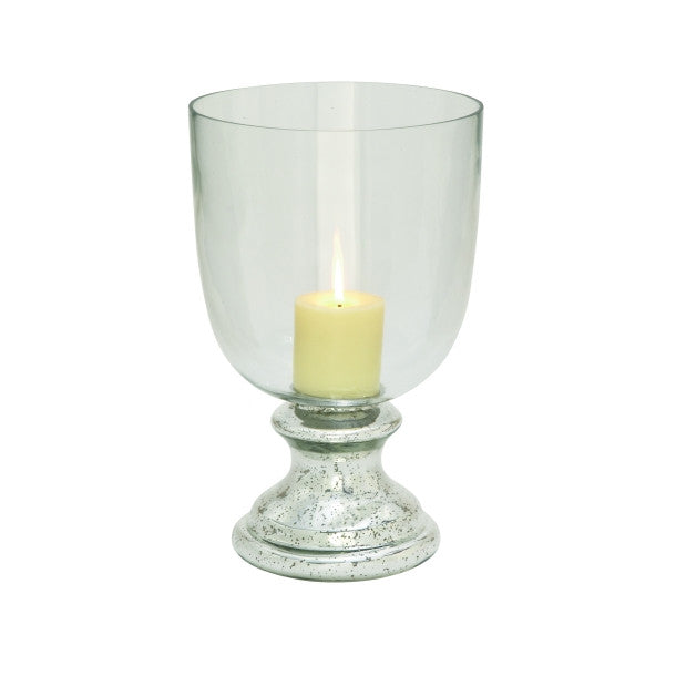 Mercury Glass Hurricane Candle Holder 24667 | UMA Enterprises