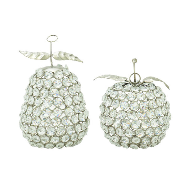 Apple and Pear Decorative Objects 37015, set of two | UMA Enterprises