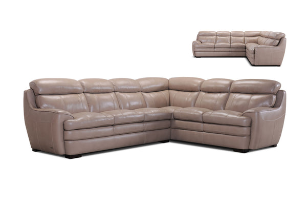 3702 Leather Sectional in Taupe - $2145 | Violino Limited