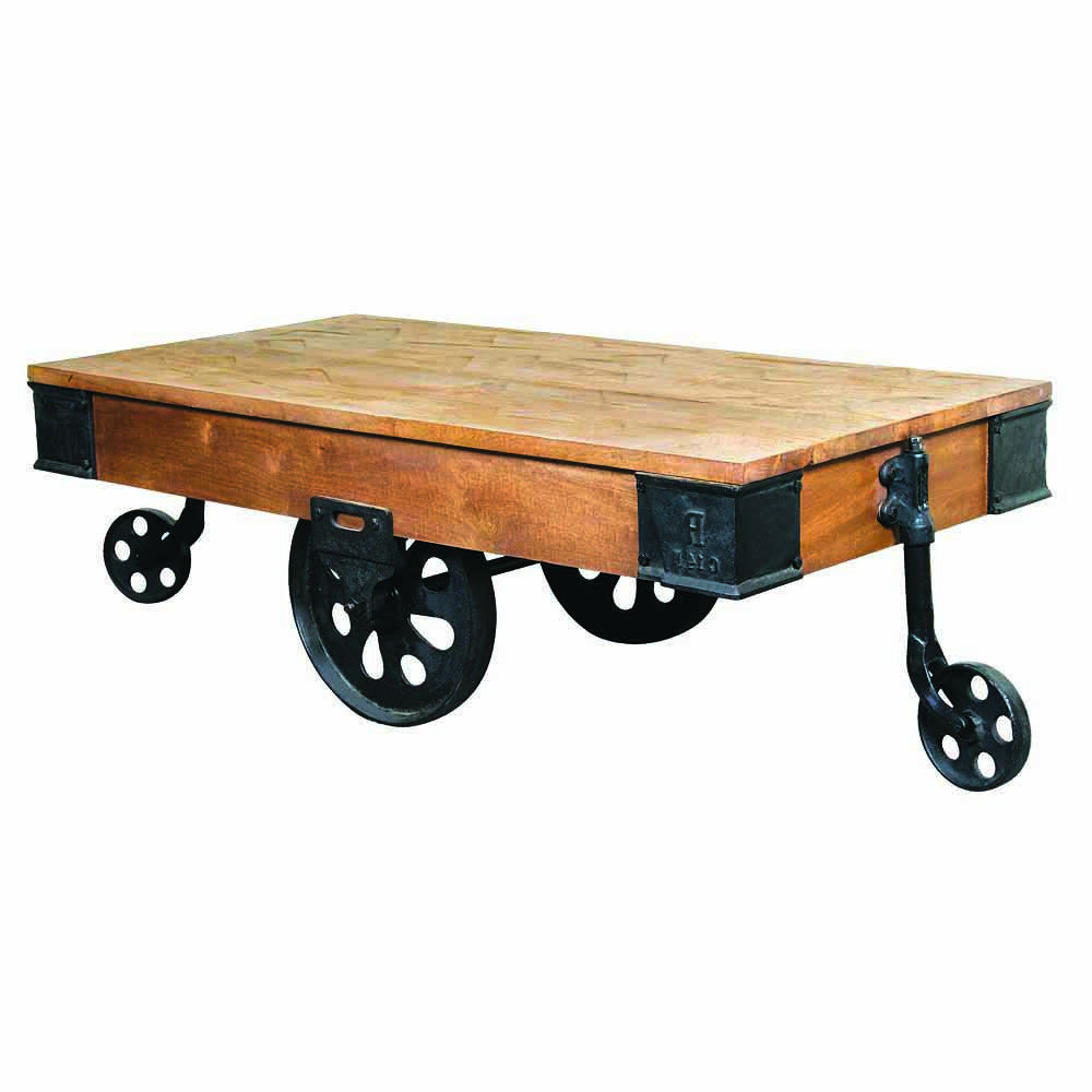 Rail Cart Cocktail Table