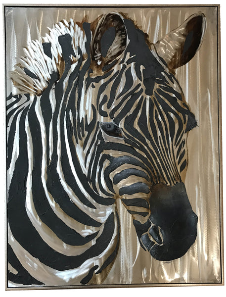 Zebra Mixed Media Art | UMA Enterprises