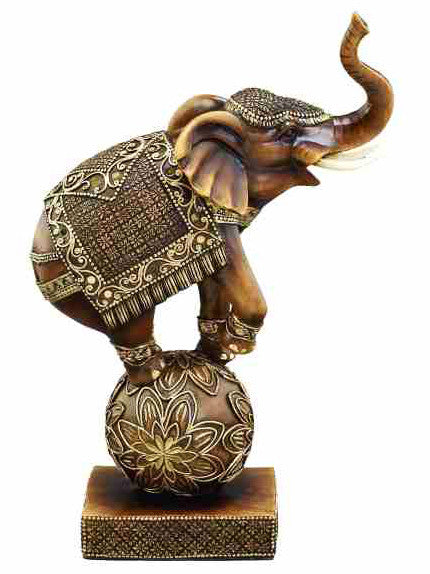 Elephant On Ball Sculpture 44144 | UMA Enterprises