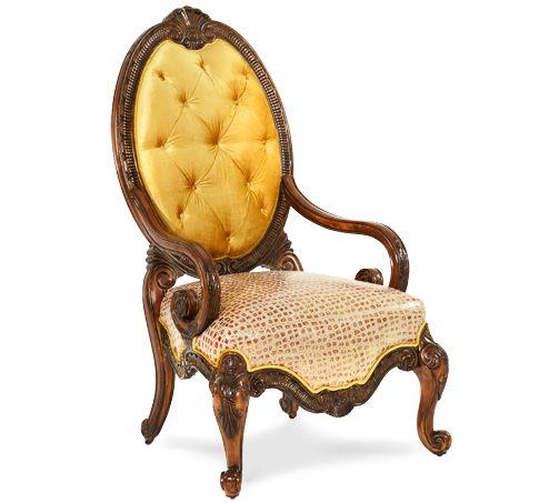 Chateau Beauvais Leather & Fabric Chair