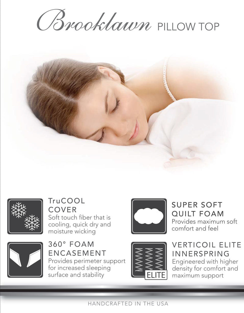 Brooklawn Pillow Top Mattress - King | Corsicana Bedding