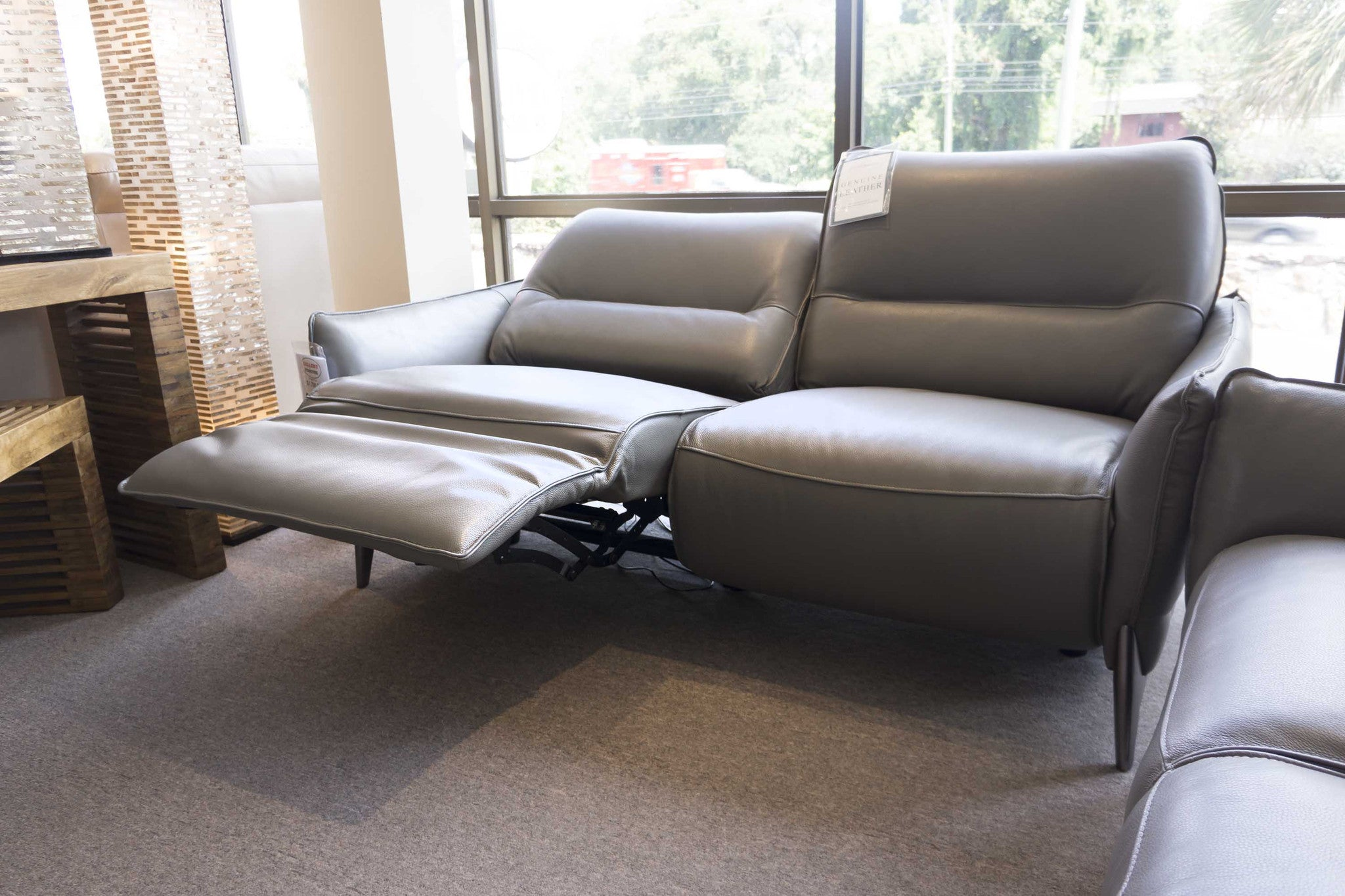 2668 Leather Motorized Reclining Sofa 1499 Gallery Furniture  ~ Motorized Reclining Sofa