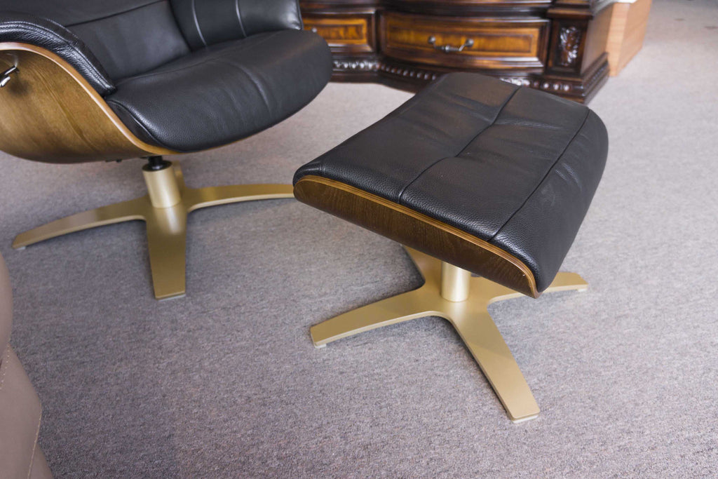 A928 Leather Chair + Ottoman